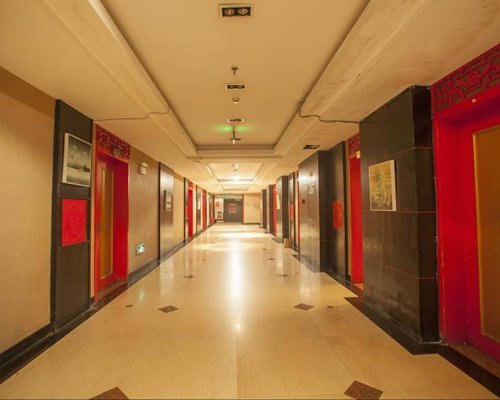 A well furnished corridor.
