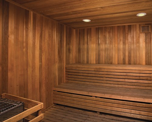 Sauna at Wyndham Oceanside Pier Resort.