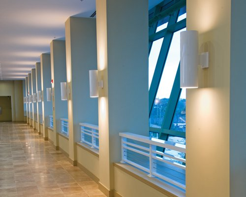 A view of the corridor in the resort.