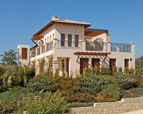 Scenic exterior view of a unit at Aphrodite Hills Resort Holiday 5 Star Deluxe.