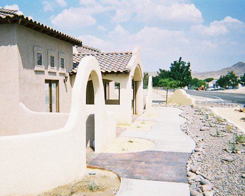 An exterior view of The Mission Villas at Silver Lakes.