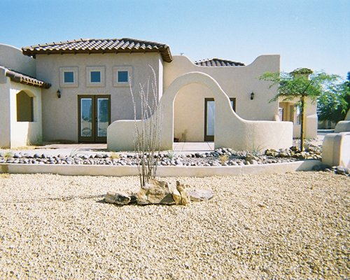 Exterior view of a unit at The Mission Villas at Silver Lakes.