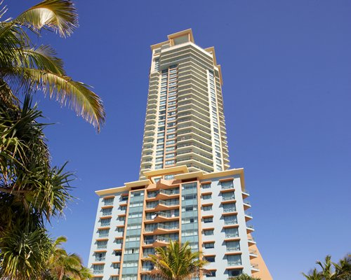 Scenic exterior view of Wyndham Crown Towers with multiple balconies.