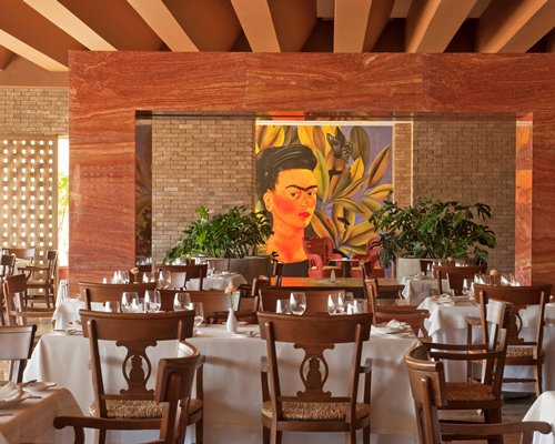 Indoor restaurant at Grand Velas R. Maya Ambassador.