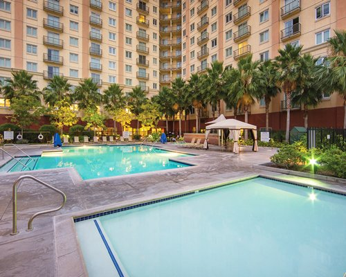 An outdoor swimming and kiddie pool at the WorldMark in Anaheim.