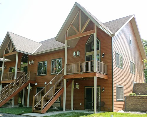A ground view of the Gull Lake Residence Club.