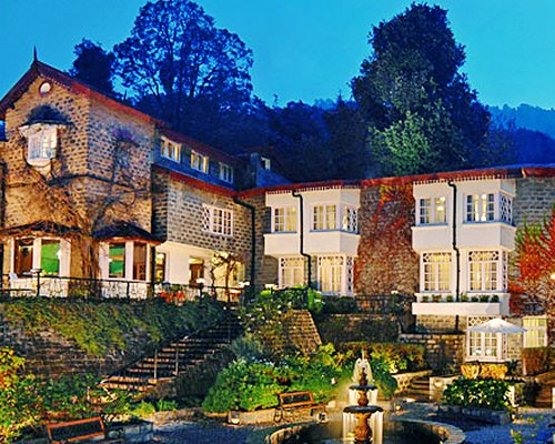 Scenic exterior view of The Naini Retreat Nainital resort.