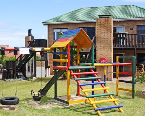 An outdoor children's play area.