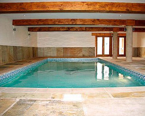 An indoor swimming pool at the cottage.