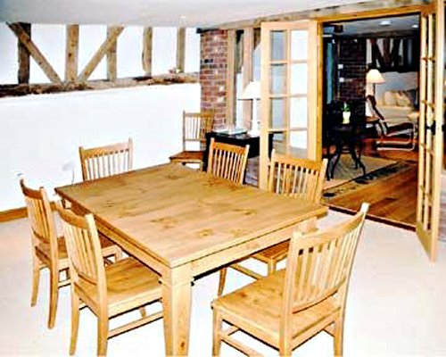 Dining area with view of the living room.