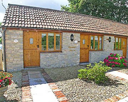 Exterior view of Mendip View cottage.