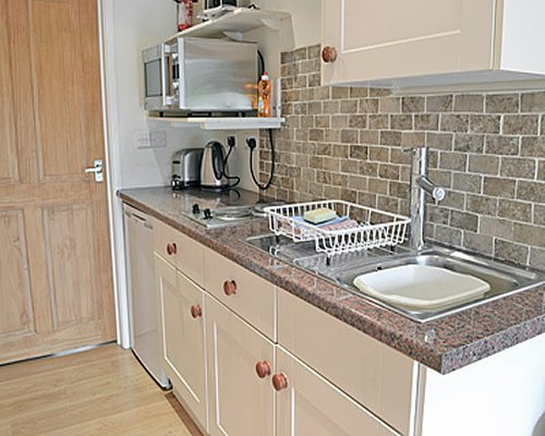 A well equipped kitchen.