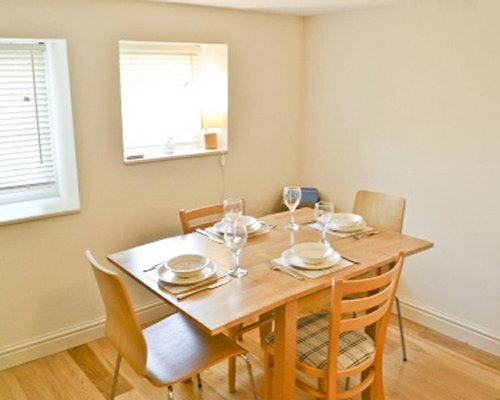 A well furnished dining room.