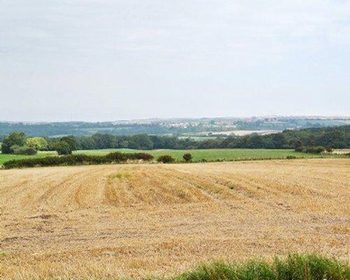A scenic view of local farmland.