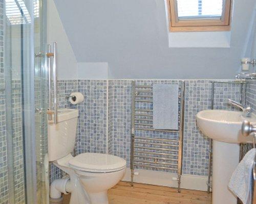 A bathroom with a sink.