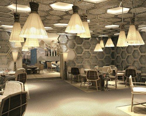 An indoor restaurant at Grand Palladium Colonial Resort & Spa at Riviera Maya.