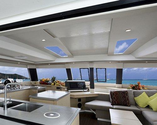 Interior of sailboat