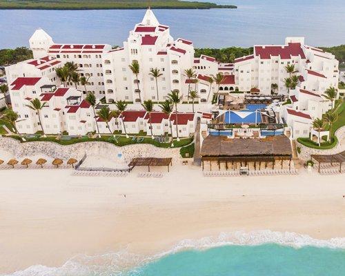 Arial view of beach resort.