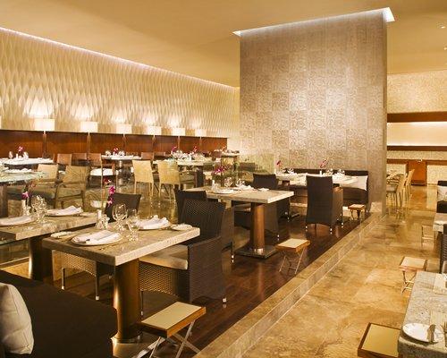 An indoor fine dining restaurant.