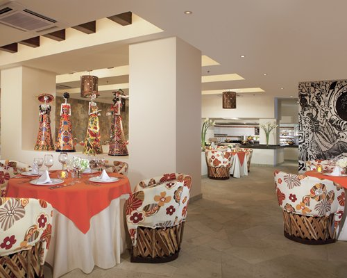An indoor fine dining area at the resort.