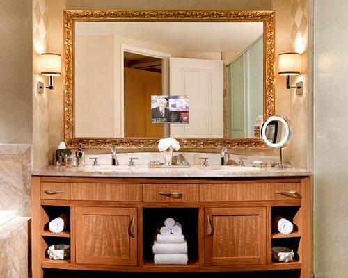 A double sink vanity.