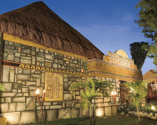 The entrance of Explorer's Club at Dreams Tulum Resort And Spa.