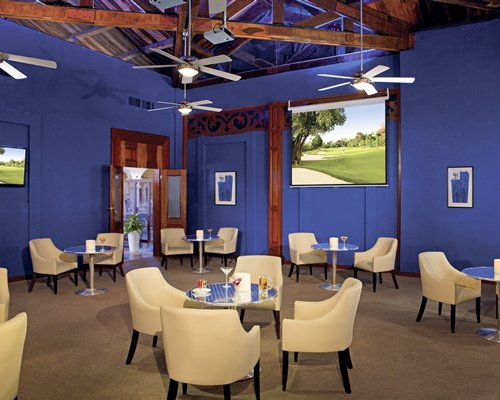 An indoor restaurant at Dreams Tulum Resort And Spa.