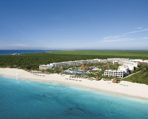 Aerial view of resort.