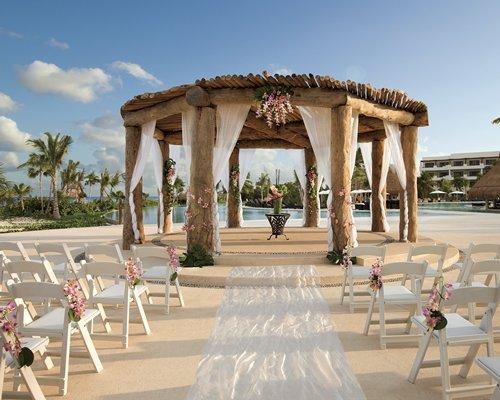 A wedding area.