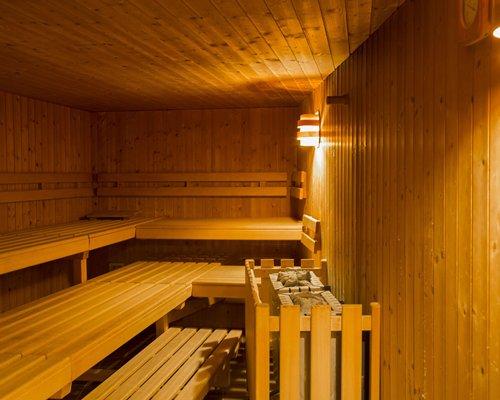Sauna at Sunstar Hotel Klosters.