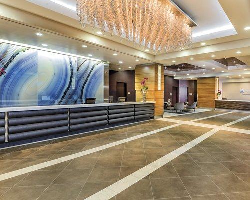 Reception area at Wyndham Desert Blue resort.