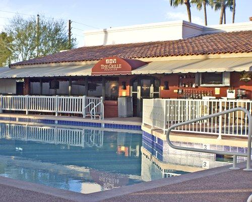 A poolside bar.