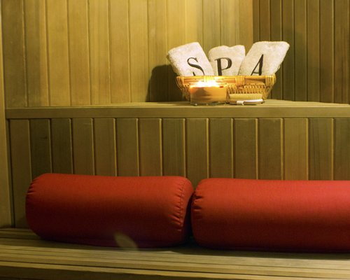 An interior view of the spa at the resort.