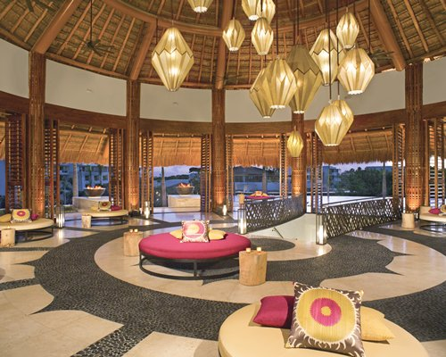 An indoor lounge area at the resort.