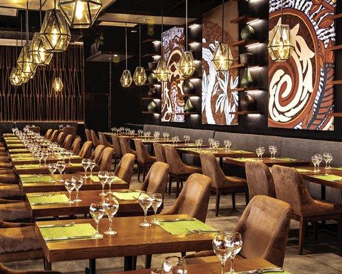 An indoor restaurant at Secrets Royal Beach Punta.