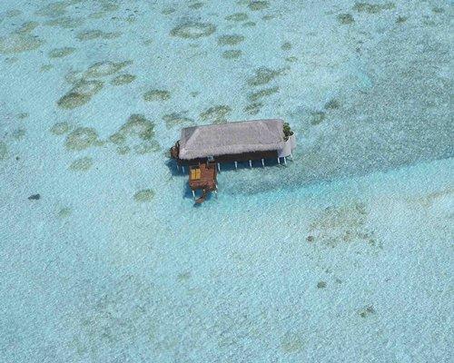 A resort unit in the ocean.