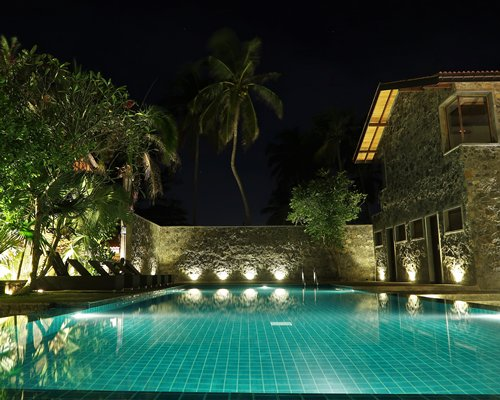 Outdoor swimming pool alongside a unit.