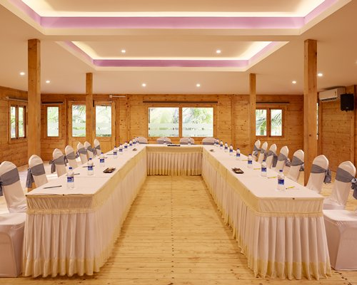 A well furnished conference hall.
