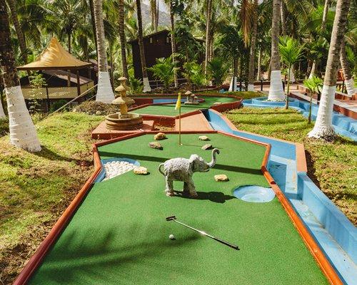 A miniature golf course.