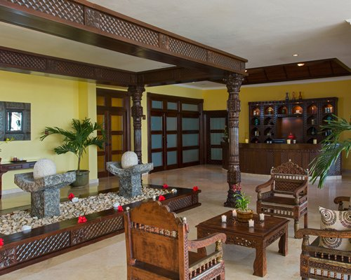 A reception lobby at the resort.