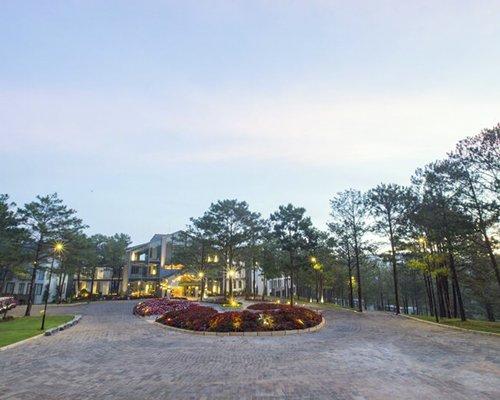 A pathway leading to Terracotta Resort Dalat.