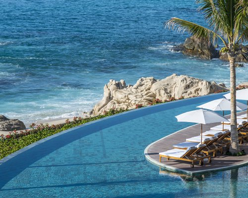 Reception with the lounge area at Grand Velas Los Cabos resort.