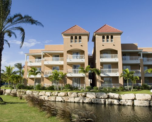Exterior view of the resort units alongside the sea.