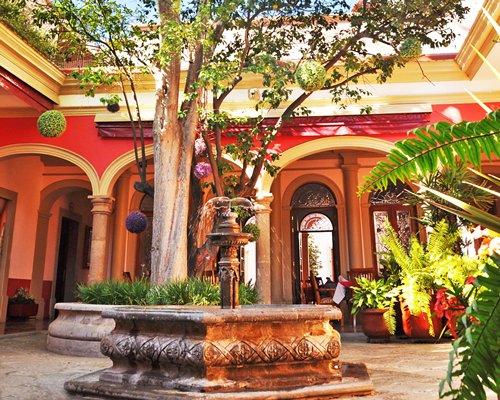 Scenic view of Circuito Guadalajara Tequila Sayula with a fountain.