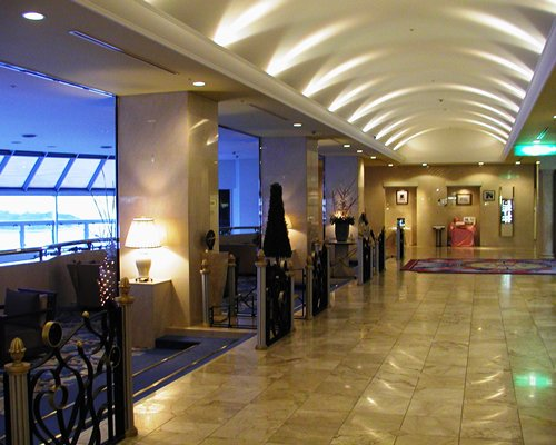 View of the resort lobby.