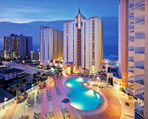 Exterior Wyndham Ocean Boulevard Resort showing pool area.