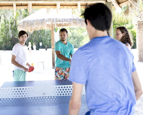 people playing ping pong