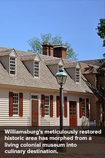 Williamsburg restaurant in restored building